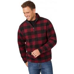 Wrangler Men's Red Fleece With Zipper