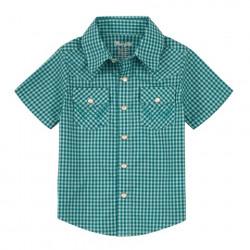 Wrangler Toddler Green Check Shirt