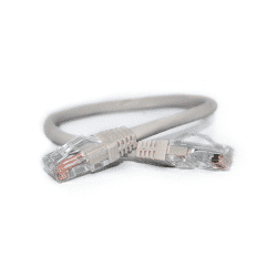 3FT GREY HIGH DENSITY CAT 5E SNAGLESS PATCH CABLE 568A WIRING
