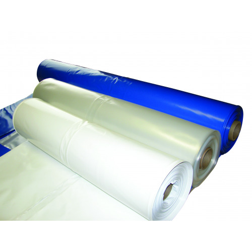 Shrink Wrap, Blue & White
