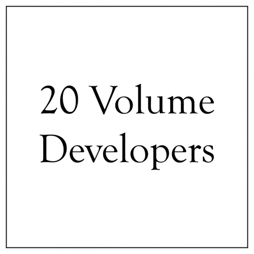20 Volume Developers