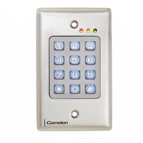 Camden Outdoor Vandal Resistant Backlit Stand Alone Access Control Keypad
