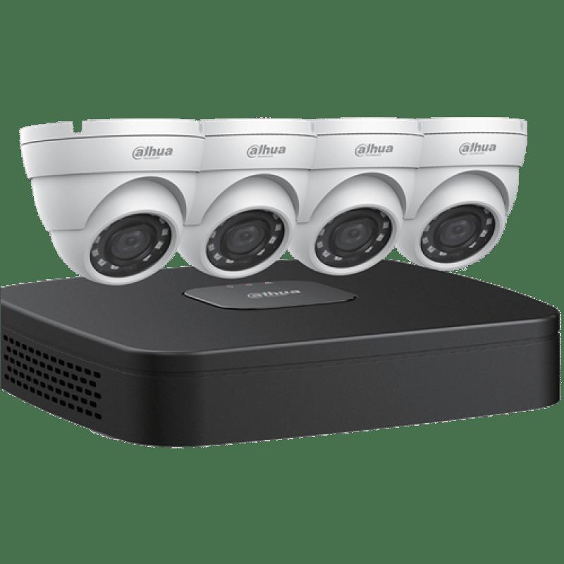 Dahua IP Security Camera System, 4 Channel 4K NVR, 4 x 4MP Eyeball Cameras