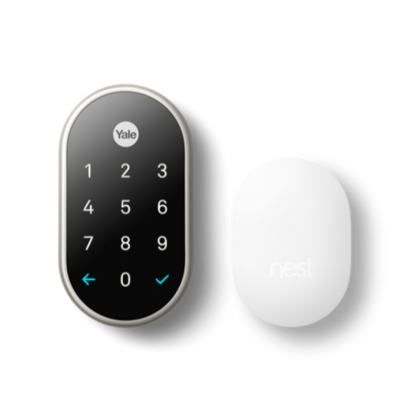 Yale NEST x WiFi Smart Lock with NEST Connect - Satin Nickel